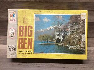 Vintage 1968 Milton Bradley Big Ben 1000 Puzzle Asconi, Italy Free Shipping