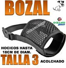 BOZAL TALLA 3 ACOLCHADO HOCICO HASTA 18CM REGULABLE VELCRO PERRO PEQUEÑO NYLON