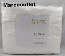 Hudson Park 680 Thread Count Cotton Sateen KING Duvet Cover White