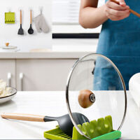 Stand Holder Cooking Storage Spoon Pot Useful Tool Lid Shelf Kitchen Decor