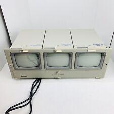 "WV-BM 503 500 Bank of 3 Panasonic 5"" Monochrome Rack Mount Security Monitors TVs"