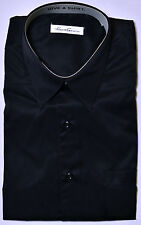 Men's KENNETH COLE Black Cotton NON IRON Dress Shirt 15 1/2  34/35 NWT NEW