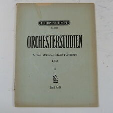 Música de flauta Orchesterstudien 2, Breitkopf 3673 / Emil Prill Orquestales estudios