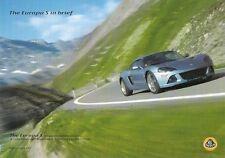 Lotus Europa S 2007-08 UK Market Leaflet Sales Brochure
