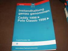 Werkstatthandbuch VW Polo Classic Instandhaltung ,1996