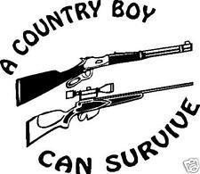 A COUNTRY BOY CAN SURVIVE CAR DECAL STICKER