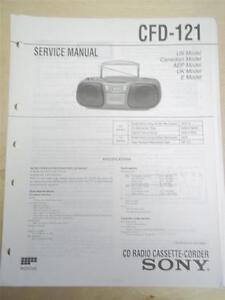 Sony Service Manual~CFD-121 CD Cassette-Corder Boombox~Original~Repair
