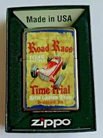 Zippo Bradford Lighter Vintage Road Race Car 1948 New In Box MAD in USA