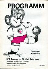 Programmheft, BFC Dynamo - FC Carl Zeiss Jena, Oberliga-Punktspiel 1981 /19