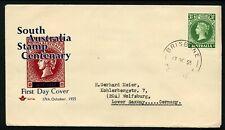 Australia 1955 Sa Stamp Centenary - Royal Fdc
