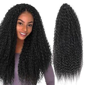 "18"" 28"" Yaki Kinky Crochet Hair Curly Twist Braids Afro Curls Hair Extensions"