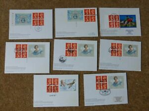 Rare Collection GB Label Booklet PHQs with FDI on reverse (8)