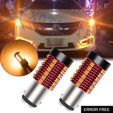 NO Hyper Flash Amber 1157 LED Turn Signal Light Bulb For Honda Civic Accord CR-V