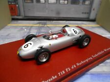 F1 PORSCHE 718 GP 1960 #6 Bonnier Nürburgring Südschleife Win Resin TSM 1.43