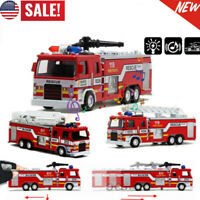 1:32 Model Aerial Rescue Fire Truck Car Kids /w LED Sound Christmas Toys Gift