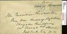 Edith Roosevelt Theodore First Lady Jsa Coa Free Frank Envelope Signed Autograph