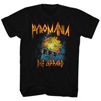 Def Leppard T-Shirt PYROMANIA New Mens in Sizes SM - 5XL in 100% Black Cotton