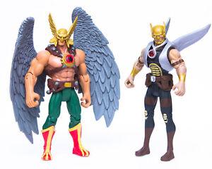 "2008 Mattel DC Universe Infinite Heroes 4"" HAWKMAN & THANAGARIAN WARRIOR Figures"