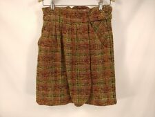 "Gorgeous Anthropologie ODILLE SZ 6 SKIRT Thick Tweed Zipped Pockets 14"" Waist"