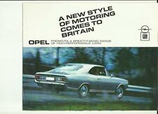 OPEL KADETT, Olympia, COMMODORE, REKORD SALES BROCHURE Early 70'S