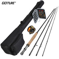 Fly Fishing Combo 2.7M Fishing Rod 5/6 Fly Reel Flies Tapered Leader Line