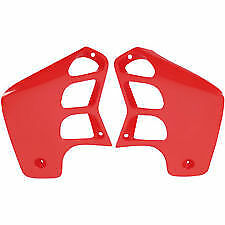 UFO Mx Honda CR125 1989 1990 CR250 1988 1989 Motocross Red Radiator Shrouds