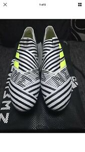 Adidas Nemeziz + Black/White Laceless Boots UK 9 (43) New In Box RRP £ 250