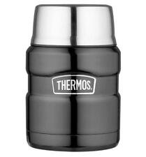 Genuine Thermos Brand Stainless Steel Double Wall Food Flask, 470ml, Gun Metal