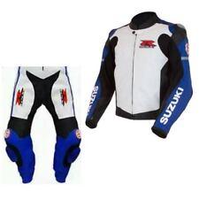 Suzuki GSXR Moto Cuir Costume Courses  Cuir MotoGp Veste Pantalon Armures