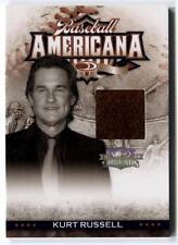 Kurt Russell 2008 Donruss Threads Baseball Americana CLOTHING PATCH #d /500