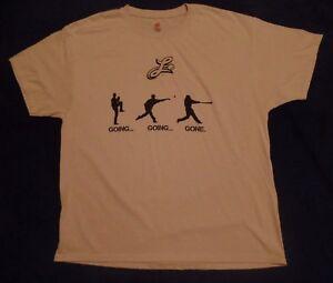 Lancaster Barnstormers t shirt, XL, beige w/ black, Hanes Comfort Blend