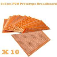 10pcs DIY Solder Prototype Paper PCB Universal Circuit Board BREADBOARD-5x7 J8W1