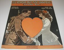 1917 Sheet Music Au Revoir But not Good-bye Soldier Boy Wwl Cover Art Ee Walton