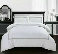 White Duvet Cover with Pillow Case Quilt Cover Bedding Set in Double King Size