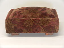 Deco Low Profile Footstool (in 6 fabrics)