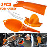 3PCS Primary Case Oil Fill +Crankcase + Drip-Free Oil Funnel For Harley Filter