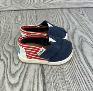 Infant TOMS Size T3 Patriotic Flag Red White Blue 4th of July Memorial Day