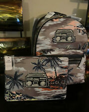 2PC COACH KEITH HARING HAWAIIAN PRINT BACKPACK & TURNLOCK POUCH NWT $600🏝
