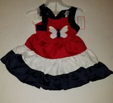 NWT Girls EMILY ROSE Red/White/Blue 4th of July Dress Legging Outfit Size 4