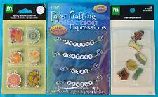 3 Card / Scrapbook Embellishments, Making Memories eyelet charms, charmed enamel