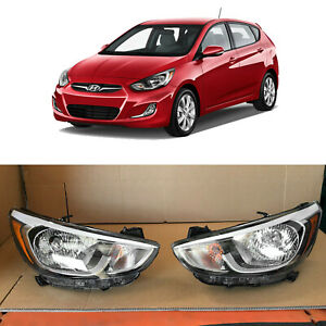 Headlight Replacement for 2015 2016 2017 Hyundai Accent 2p 921011R710 921021R710