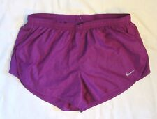 "Nike Dry Tempo Womens Purple Dri Fit 3"" Athletic Running Shorts 588614-519 M"
