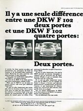 G- Publicité Advertising 1965 2 ou quatre portes Auto Union DKW F 102