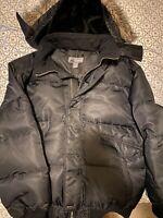 Winter Coat-Colorado XL Men's Black Fur Zip up Jacket Detachable Fur Hood NWT
