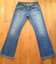 Big Star Distressed  Mid Rise Boot Cut Light Wash Jeans Size 30R Inseam 30
