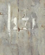 Wallpaper Modern Industrial Faux Gray Concrete Wall with White Painted Numerals