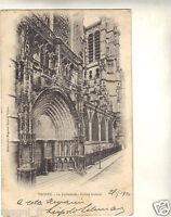 10 - cpa - TROYES - La cathédrale - Entrée latérale ( i 1724)