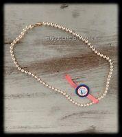 Collier Perle De Majorque Plaqué Or 18 Carats 50cm Bijoux Femme