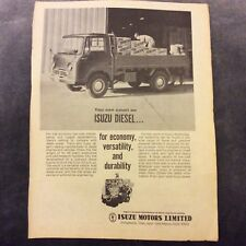 Advertisement - Isuzu Diesel Trucks - 1962