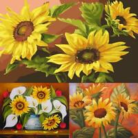 5D DIY Full Drill Diamond Painting Sunflower Cross Stitch Craft Kits Needlework